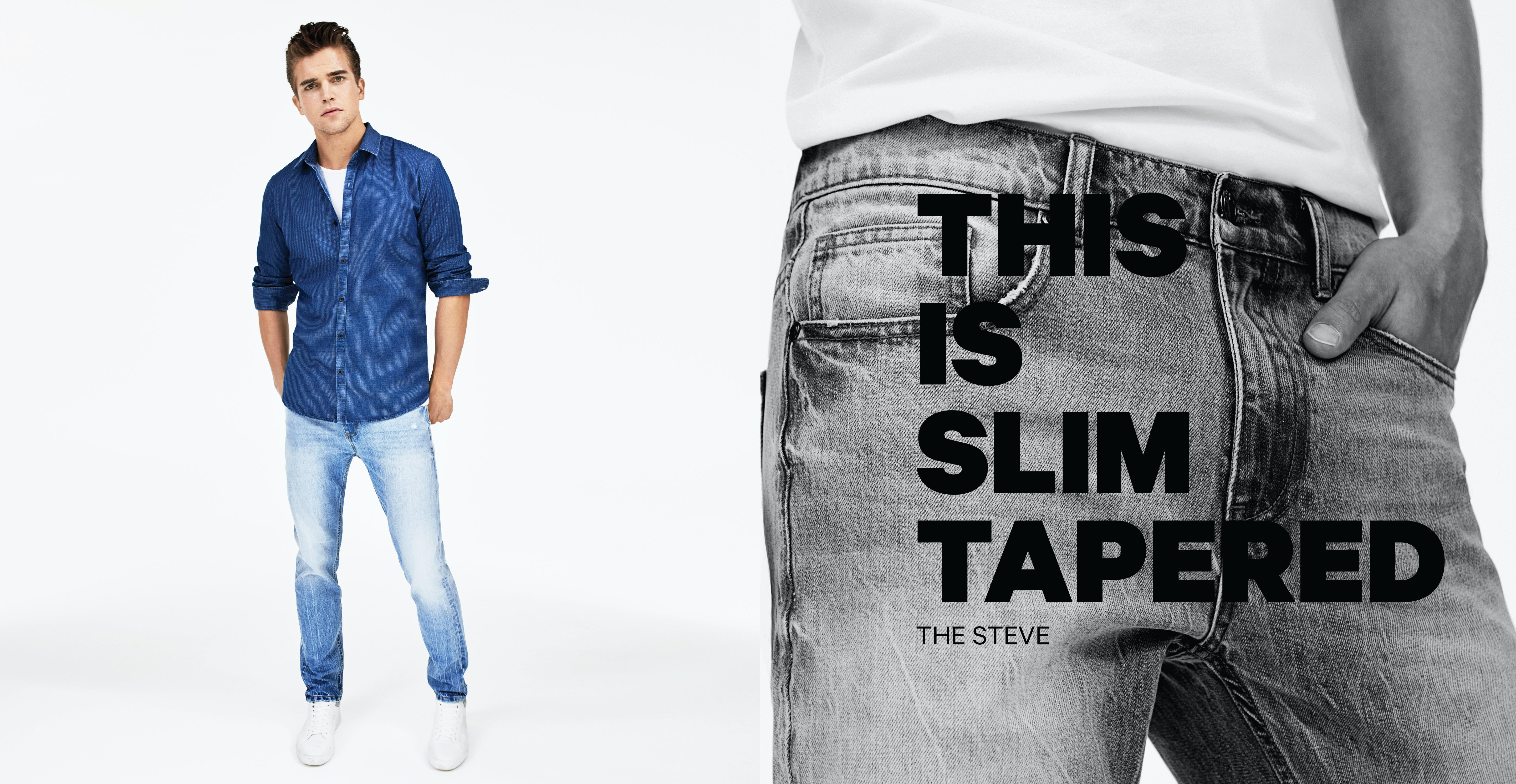 yd. Denim: the slim tapered jeans