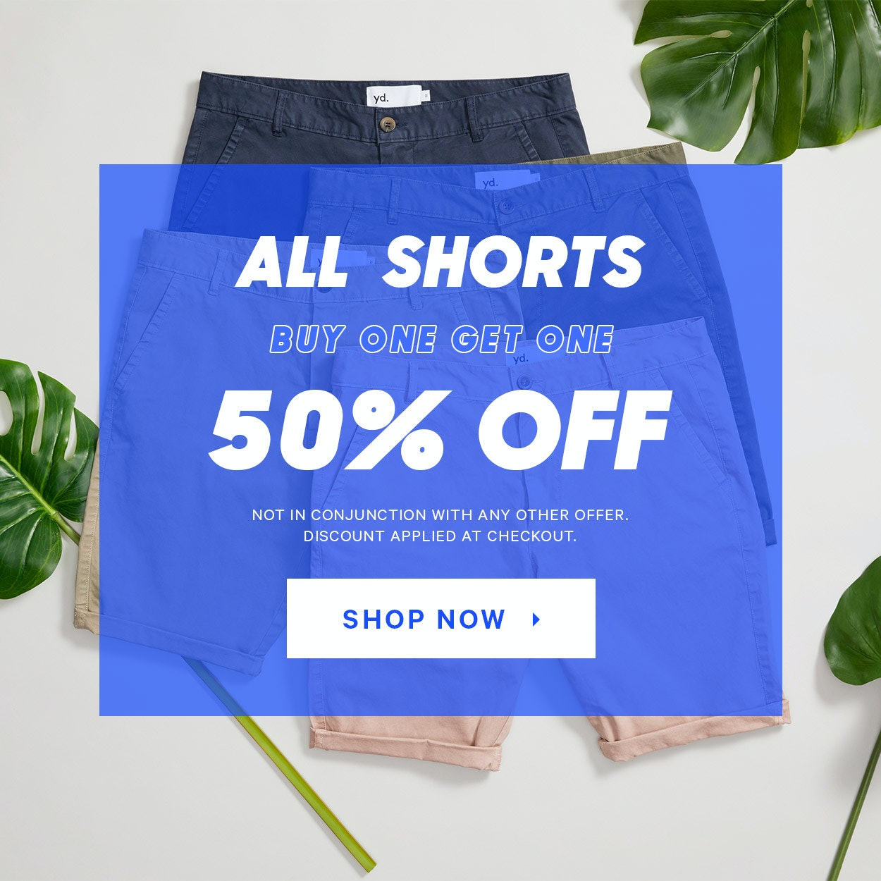 Buy one, get one 50% off shorts
