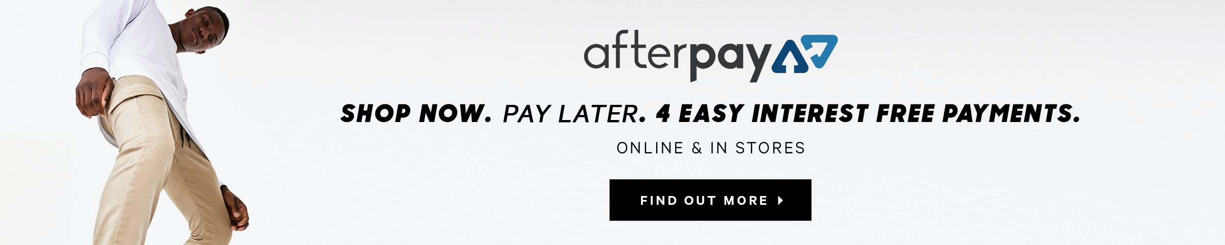 Afterpay: shop now at yd. and pay later using AfterPay