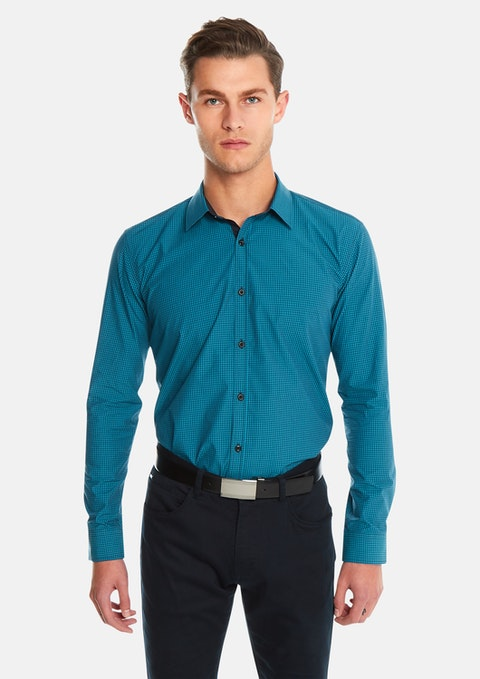 Teal Airlaw Slim Fit Shirt