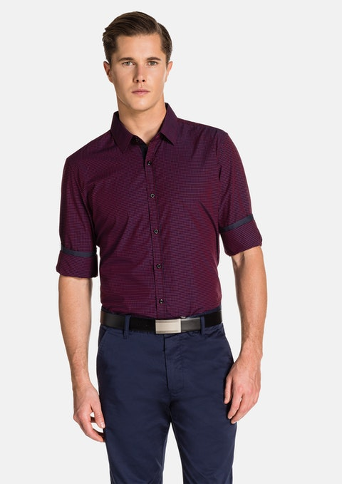 Red Airlaw Slim Fit Shirt