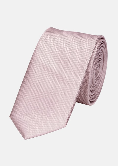 Pink Herringbone 5cm Tie