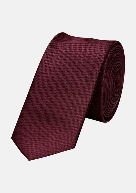 Red Herringbone 5cm Tie