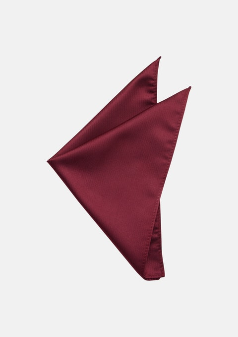 Red Herringbone Pocket Square