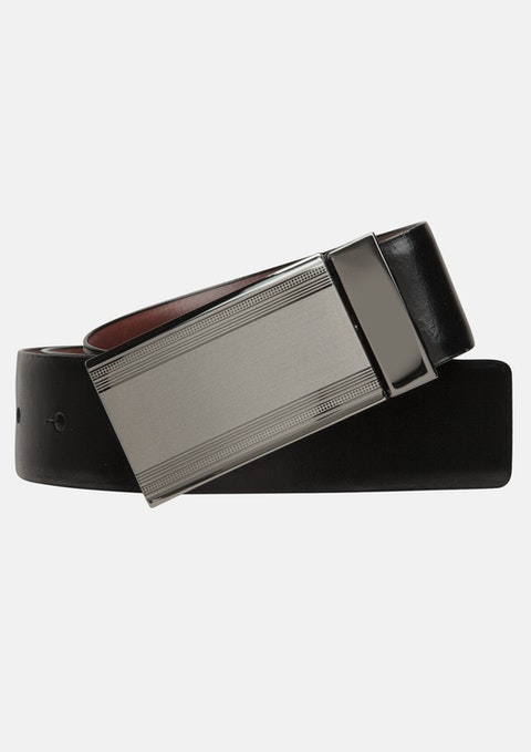 Blk/brn Domino Stripe Belt
