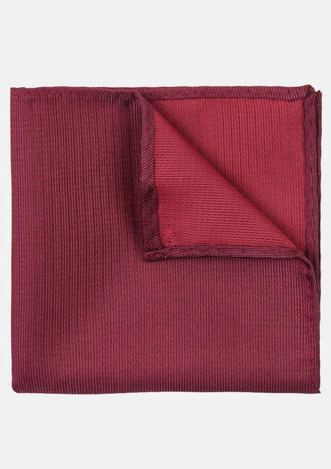 Maroon Stripe Pocket Square