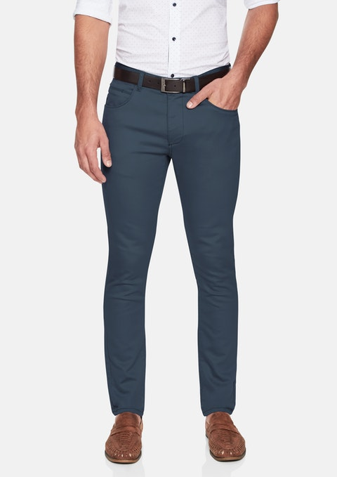 Deep Teal Nicol Chino Pant