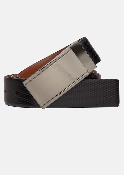 Tan/black Black Bond Dress Belt