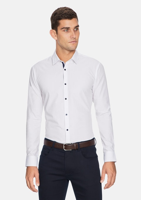 White Rapp Slim Shirt
