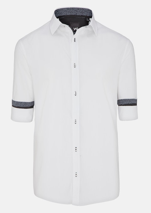 White Oscar Slim Fit Shirt