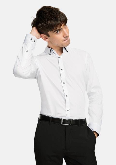 White Whistler Slim Fit Dress Shirt
