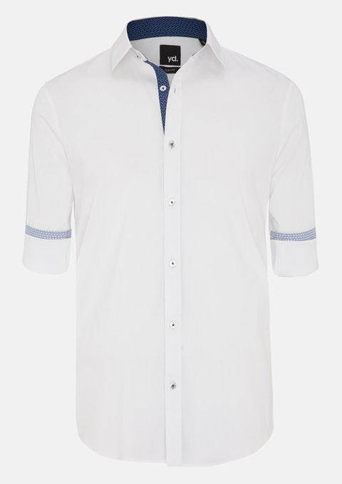 White Adan Slim Fit Shirt