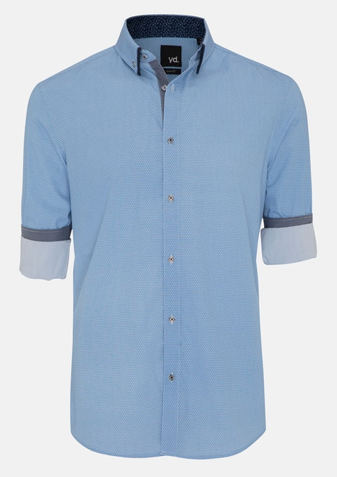 Blue Gilles Slim Fit Shirt