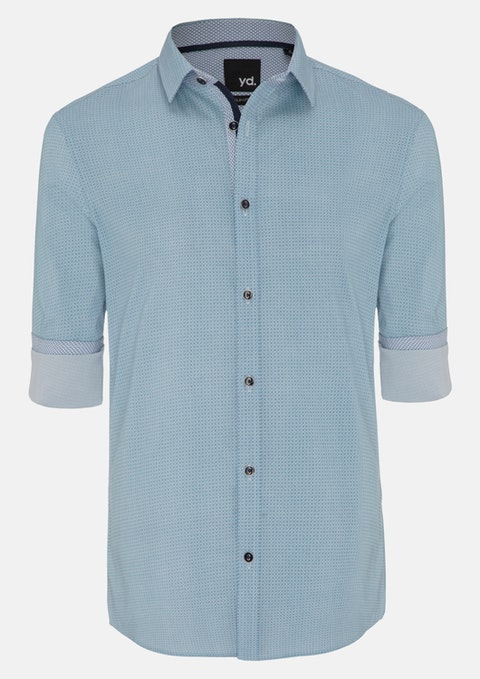 Teal Foster Slim Fit Shirt