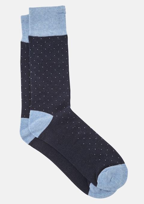 Navy Sinatra Sock