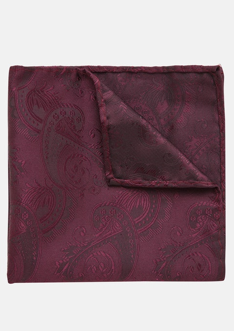 Burgundy Cordova Pocket Square