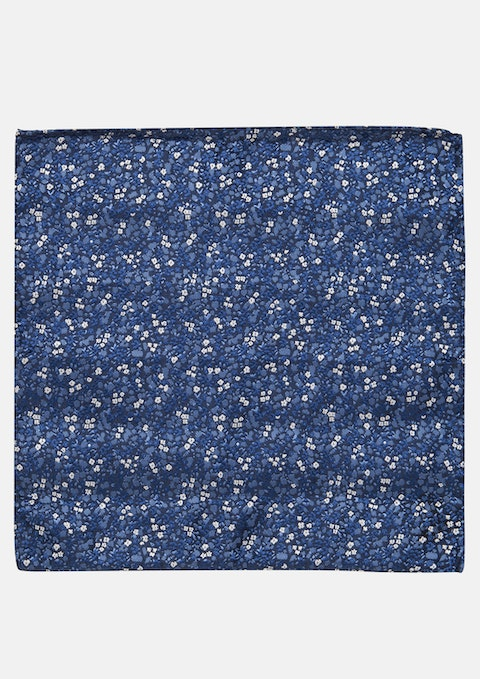 Navy Floral Athena Pocket Square