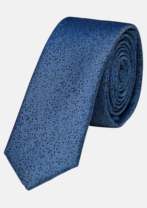 Teal Floral Thera  5cm Tie