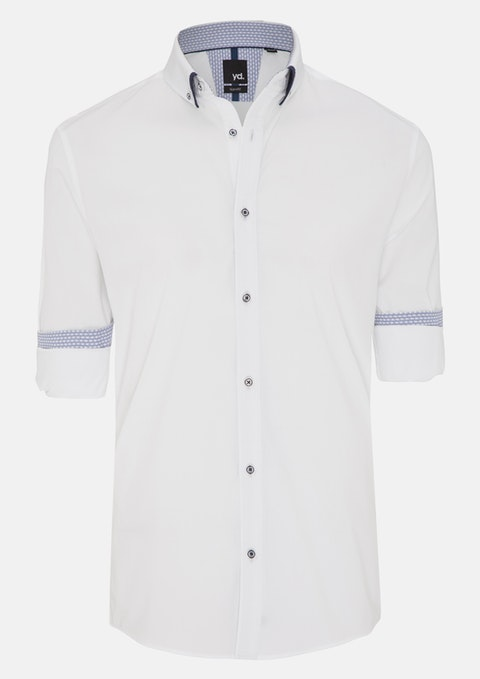 White Tace Slim Fit Shirt