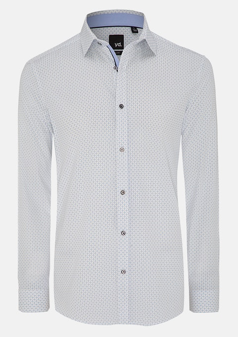 White Pagan Slim Fit Shirt
