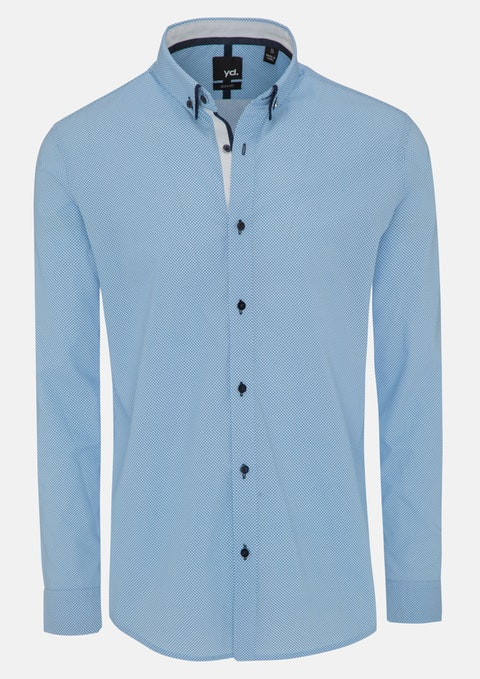 Blue Callum Slim Fit Shirt