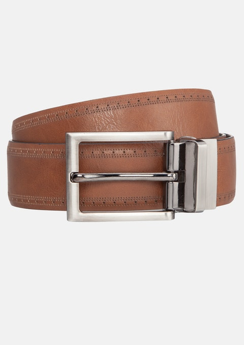 Tan Miles Brogue Belt