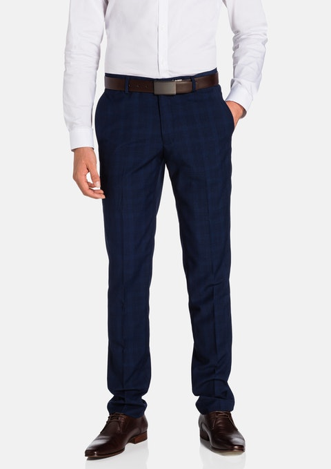 Navy Marlo Skinny Dress Pant