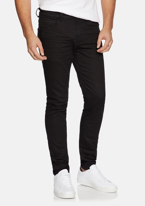 Black Amana Slim Tapered Jeans