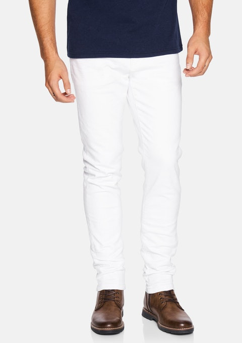 White Amana Slim Tapered Jean
