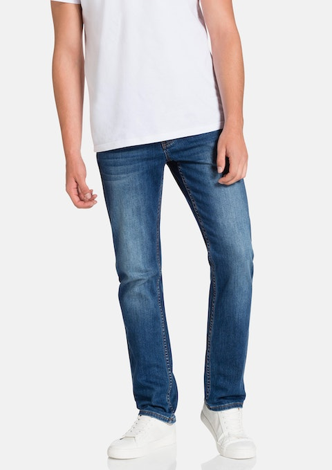 Light Blue Battle  Slim Fit Jean