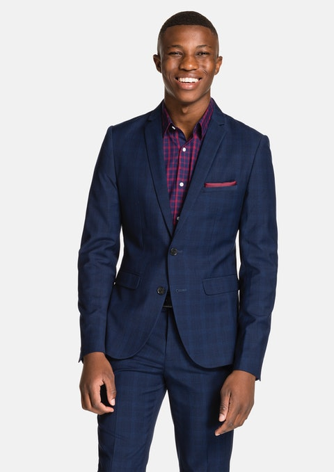 Navy Marlo Skinny Suit Jacket