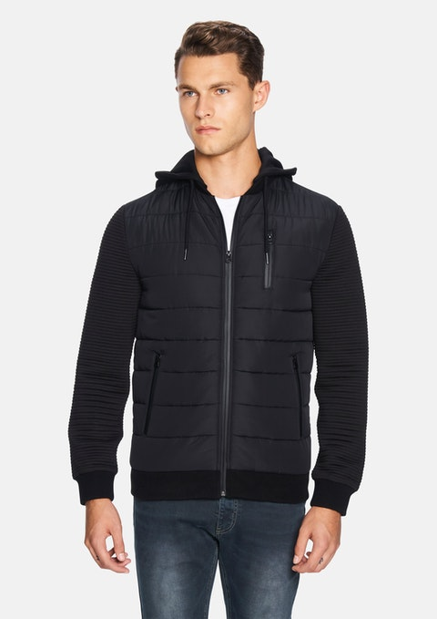 Black Manford Quilted Jacket