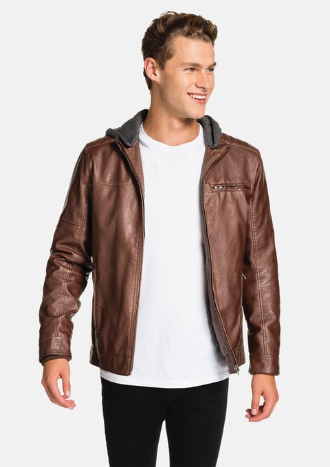 Brown Hooded Cassan Jacket