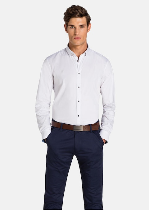 White Hatton Slim Fit Shirt