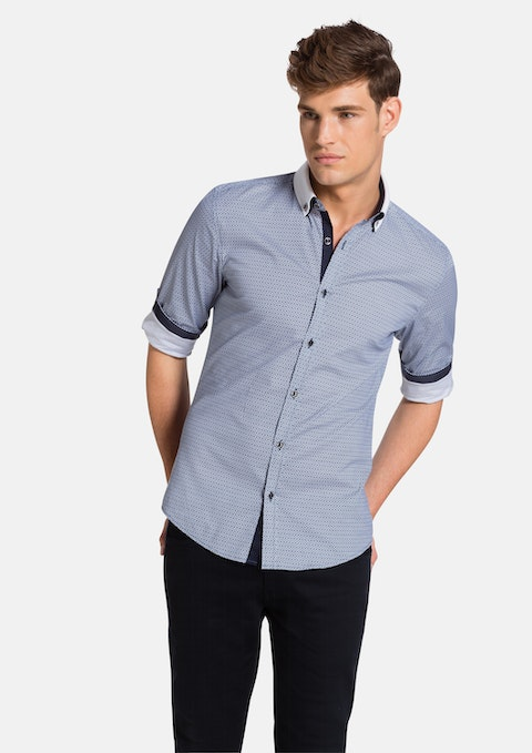 Navy Naylor Slim Fit Shirt