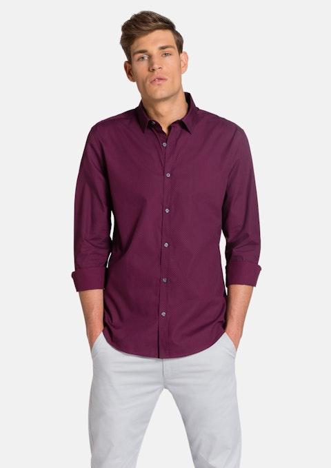 Burgundy Colman Slim Fit  Shirt