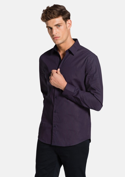Burgundy Cardon Slim Fit Shirt