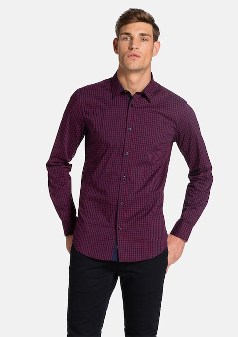 Blue/red Reyes Slim Fit Shirt