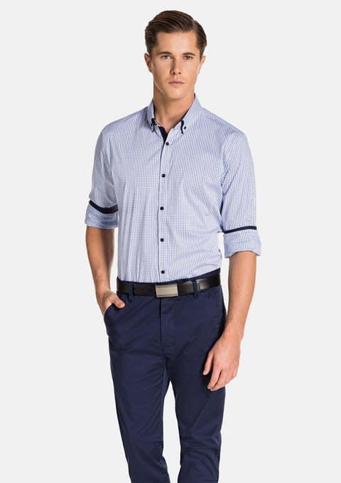 White/blue Dawes Shirt