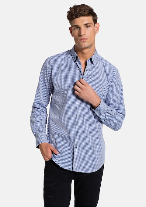 Blue Villato Slim Fit  Shirt