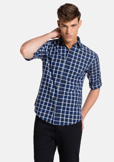 Blue/black Burwell Shirt