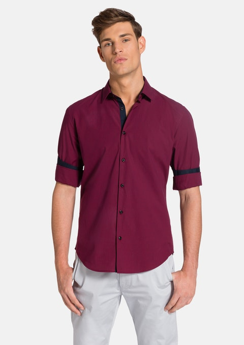 Burgundy Bourne Shirt
