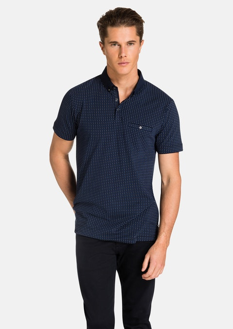 Navy Hendrick Polo
