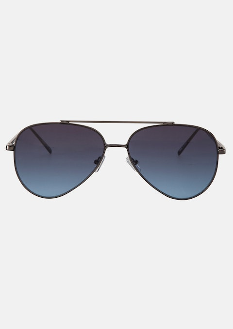 Black Maverick Aviator Sunglasses