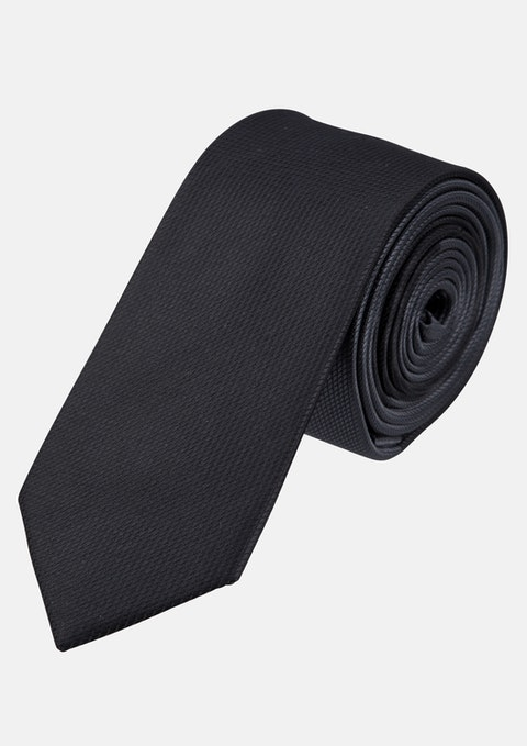 Black Marco Spliced Tie