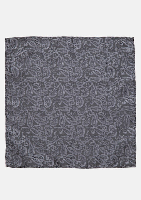 Charcoal Rocky Pocket Square