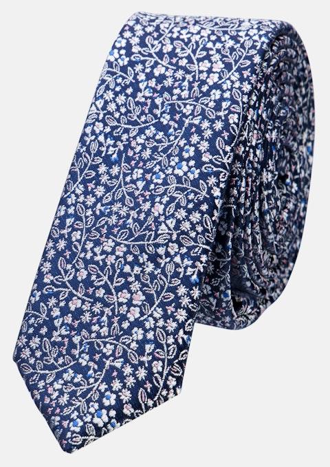 Dark Blue Power Flower Tie