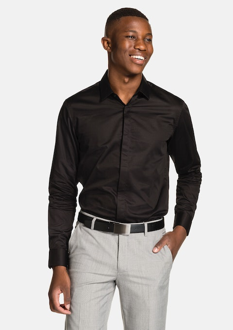 Black Garrick Slim Fit Shirt