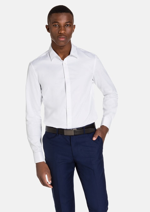 White Pearce French Cuff Tex Shirt