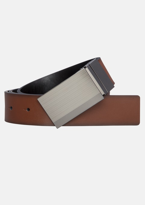 Brown Riley Reversible Belt